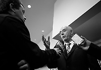 Quebec Minister of economy, innovation and exportations, Jacques Daoust speak before the Montreal Board of Trade, Friday,<br /> November 20, 2015.<br /> <br /> <br /> PHOTO : Pierre Roussel - Agence Quebec Presse