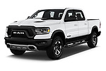 2020 Ram RAM-1500 Rebel 4 Door Pick-up Angular Front automotive stock photos of front three quarter view