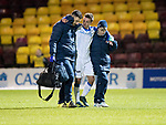 Motherwell v St Johnstone…06.02.18…  Fir Park…  SPFL<br />Stefan Scougall limps off injured<br />Picture by Graeme Hart. <br />Copyright Perthshire Picture Agency<br />Tel: 01738 623350  Mobile: 07990 594431