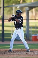 AZL White Sox DJ Gladney (25) at bat during an Arizona League game against the AZL Royals at Camelback Ranch on June 19, 2019 in Glendale, Arizona. AZL White Sox defeated AZL Royals 4-2. (Zachary Lucy/Four Seam Images)