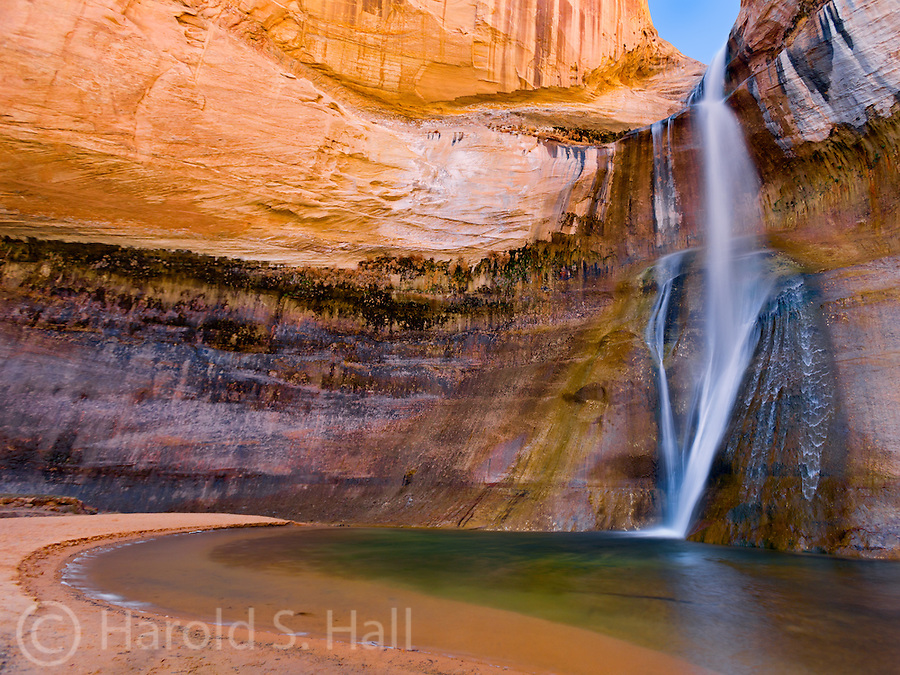 Calf Creek Falls near the small Utah town of Boulder is a welcome site on a hot summer afternoon.