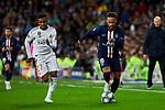Rodrygo Goes of Real Madrid and Neymar Jr of Paris Saint-Germain FC during UEFA Champions League match between Real Madrid and Paris Saint-Germain FC at Santiago Bernabeu Stadium in Madrid, Spain. November 26, 2019. (ALTERPHOTOS/A. Perez Meca)