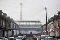 9th January 2021; Kenilworth Road, Luton, Bedfordshire, England; English FA Cup Football, Luton Town versus Reading; A quiet street outside Kenilworth Road due to the pandemic.