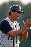 July 7th 2008:  Coach Sid Bream of the State College Spikes, Class-A affiliate of the Pittsburgh Pirates, during a game at Damaschke Field in Oneonta, NY.  Photo by:  Mike Janes/Four Seam Images