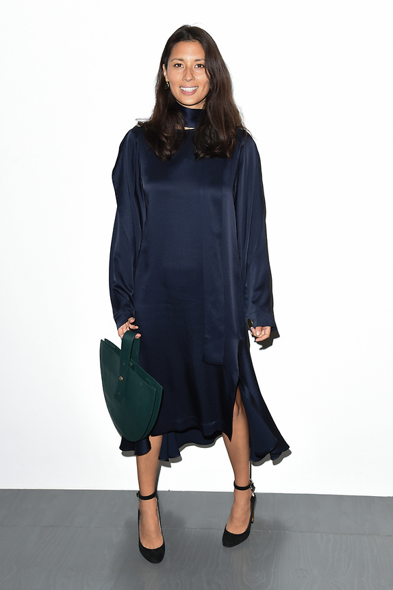Jasmine Helmsley<br /> at the Eudon Choi SS18 Show as part of London Fashion Week, London<br /> <br /> <br /> ©Ash Knotek  D3308  15/09/2017