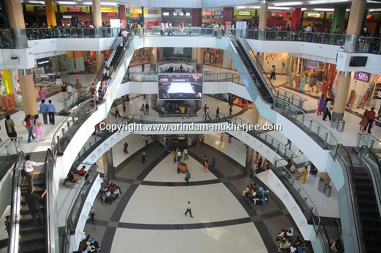 The interior of the south city mall. The biggest mall in Calcutta