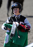 09 September 19: Jockey Justin Stein's face tells it all after he and Mimi Cooper were beat by a head in the 3rd race at Woodbine Racetrack in Rexdale, Ontario.