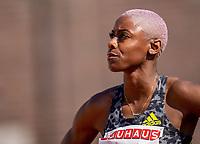 4th July 2021; Stockholm Olympic Stadium, Stockholm, Sweden; Diamond League Grand Prix Athletics, Bauhaus Gala; Shamier Little before the ladiess 400m hurdles race