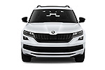 Car photography straight front view of a 2019 Skoda Kodiaq Sportline 5 Door SUV Front View