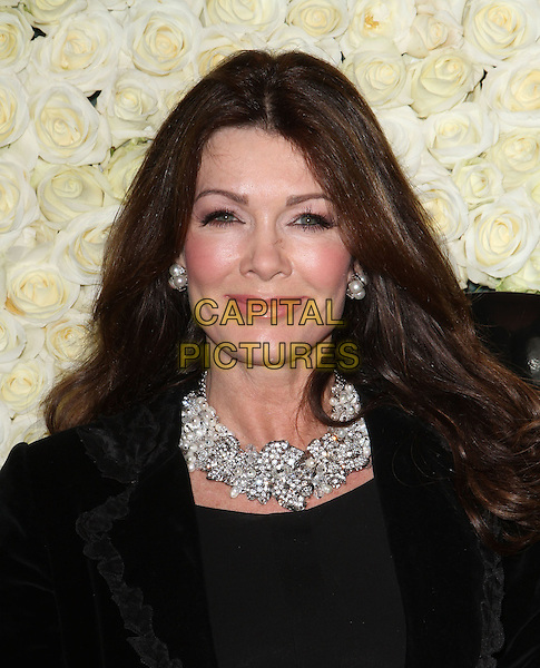Lisa Vanderpump.The QVC Red Carpet Style Event held at The Four Seasons at Los Angeles in Los Angeles, California, USA..February 23rd, 2012.headshot portrait black diamond necklace  .CAP/ADM/KB.©Kevan Brooks/AdMedia/Capital Pictures.