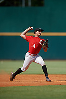 Alex Ulloa (14) of Miami Christian High School in Cutler Bay, FL during the Perfect Game National Showcase at Hoover Metropolitan Stadium on June 19, 2020 in Hoover, Alabama. (Mike Janes/Four Seam Images)