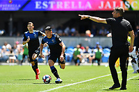 SAN JOSE, CA - JUNE 8: Cristian Espinoza #10 during a game between FC Dallas and San Jose Earthquakes at Avaya Stadium on June 8, 2019 in San Jose, California.