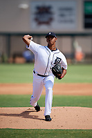 Detroit Tigers pitcher Alfred Gutierrez (48) delivers a pitch during an Instructional League game against the Toronto Blue Jays on October 12, 2017 at Joker Marchant Stadium in Lakeland, Florida.  (Mike Janes/Four Seam Images)