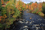 Fall view of the Ellis River in Andover, Maine, USA