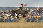 Saddle bronc riding, Jordan Valley Big Loop Rodeo..