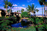 The beautiful bungalows on the grounds of the Hualalai Resort, Big Island