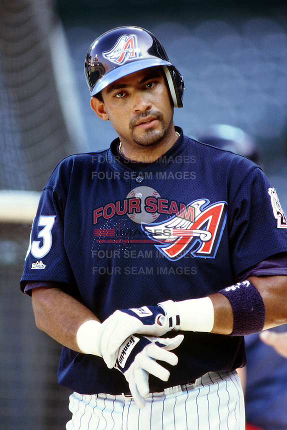Bengie Molina of the Anaheim Angels during a game circa 1999 at Angel Stadium in Anaheim, California. (Larry Goren/Four Seam Images)