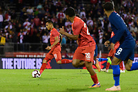 East Hartford, CT - Tuesday October 16, 2018: The men's national team of the United States (USA) played Peru (PER) played to a 1-1 tie during an international friendly at Pratt & Whitney Stadium at Rentschler Field.