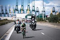 racing through the port of Antwerp<br /> <br /> Antwerp Port Epic 2019 <br /> One Day Race: Antwerp > Antwerp 187km<br /> <br /> ©kramon