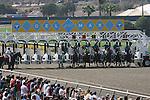 23 July 2009: Horses break from the gate at Del Mar Race Track, Del Mar, CA