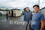 John Quilligan and James O'Brien at the Rathass Halting site in Tralee.