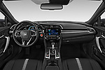 Stock photo of straight dashboard view of 2019 Honda Civic-Coupe EX 2 Door Coupe Dashboard
