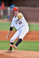 Greeneville Astros starting pitcher Forrest Whitley (63) delivers a pitch during a game against the Johnson City Cardinals at Pioneer Park on August 12, 2016 in Greeneville, Tennessee. The Cardinals defeated the Astros 7-6. (Tony Farlow/Four Seam Images)
