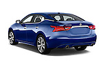 Car pictures of rear three quarter view of 2017 Nissan Maxima S 4 Door Sedan Angular Rear