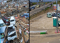 Images that show Natori area, south of Sendai Japan, that was devastated by the tsunami on 11th March 2011 photographed again 14th June 2011. 19th June will be 100 days since the earthquake...Photo by Richard Jones / Sinopix.