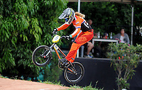 MEDELLIN- COLOMBIA -29-05-2016: Merle Benthem (NED) durante su participación en la categoría elite mujeres en el marco del Campeonato Mundial de BMX 2016 que se realiza entre el 25 y el 29 de mayo de 2016 en la ciudad de Medellín. / Merle Benthem (NED) during her performance in the women elite's categories as part of the 2016 BMX World Championships to be held between 25 and 29 May 2016 in the city of Medellin. Photo: VizzorImage / Cristian Alvarez / CONT