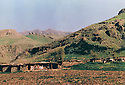 Iraq 1984 .An old base of the Kurdistan Socialist Democratic Party, near Gula Khana.Irak 1984 .Une ancienne base du parti socialiste democratique du Kurdistan pres de Gula Khana