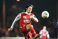 KV Kortrijk - KRC Genk : Pablo Chavarria aan de bal.foto VDB / BART VANDENBROUCKE