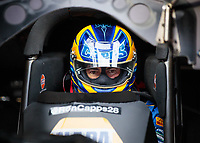Apr 12, 2019; Baytown, TX, USA; NHRA funny car driver Ron Capps during qualifying for the Springnationals at Houston Raceway Park. Mandatory Credit: Mark J. Rebilas-USA TODAY Sports