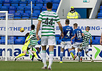 St Johnstone v Celtic…04.10.20   McDiarmid Park  SPFL<br />Patryk Klimala scores Celtic's second goal<br />Picture by Graeme Hart.<br />Copyright Perthshire Picture Agency<br />Tel: 01738 623350  Mobile: 07990 594431