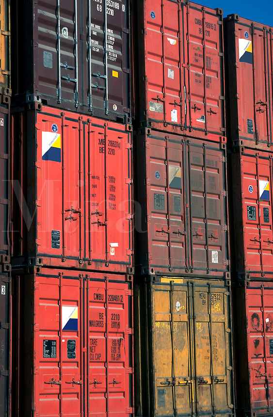 Shipping containers in the docks