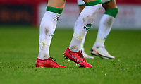 Lincoln City's Lewis Montsma's branded boots<br /> <br /> Photographer Andrew Vaughan/CameraSport<br /> <br /> The EFL Sky Bet League One - Accrington Stanley v Lincoln City - Saturday 21st November 2020 - Crown Ground - Accrington<br /> <br /> World Copyright © 2020 CameraSport. All rights reserved. 43 Linden Ave. Countesthorpe. Leicester. England. LE8 5PG - Tel: +44 (0) 116 277 4147 - admin@camerasport.com - www.camerasport.com