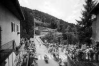 first group in the village of Flumet<br /> <br /> Stage 20: Megève › Morzine (146.5km)<br /> 103rd Tour de France 2016