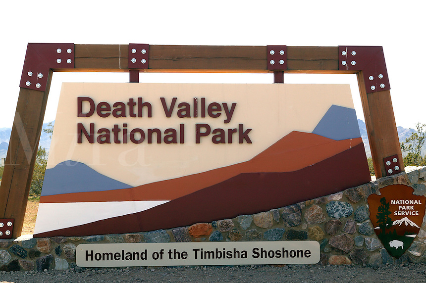 The sign for Death Valley National Park, California