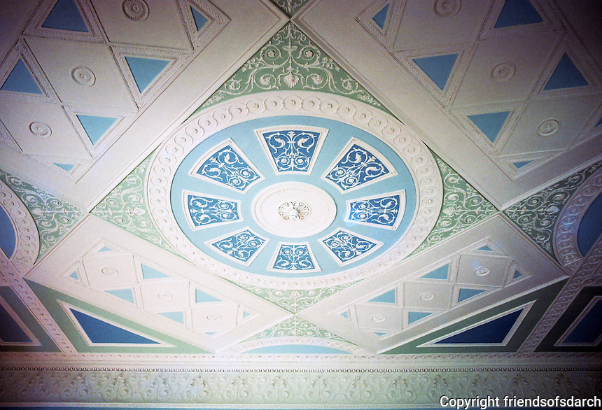 Sir John Soane: Pitshanger Manor, Eating Room ceiling by George Dance The Younger, Soane's teacher, 1768. Photo '87.