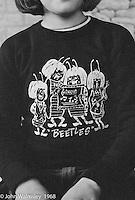 Kid's favourite T-shirt, Summerhill school, Leiston, Suffolk, UK. 1968.