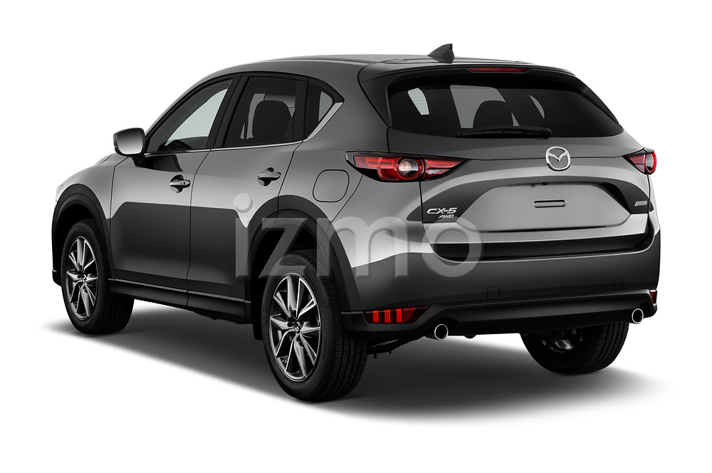 Car pictures of rear three quarter view of 2017 Mazda CX-5 Grand Touring 5 Door SUV angular rear