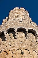 France/13/Bouches du Rhone/Camargue/Parc Naturel Régionnal de Camargue/Saintes Maries de la Mer: Chevet de l'église romane fortifiée