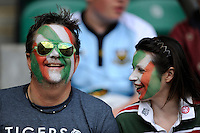 Tigers fans enjoying the atmosphere during the Aviva Premiership Final between Leicester Tigers and Northampton Saints at Twickenham Stadium on Saturday 25th May 2013 (Photo by Rob Munro)