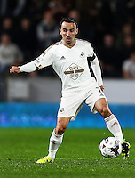 Leon Britton of Swansea City during the Capital One Cup match between Hull City and Swansea City played at the Kingston Communications Stadium, Hull