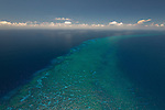 Aerial - north of the Yasawa Group is this hidden reef between Yasawa and Vanua Levu Great Sea Reef - the passage way of migrating whales.