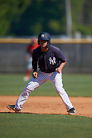 New York Yankees Jesus Bastidas (17) during a Minor League Spring Training game against the Philadelphia Phillies on March 23, 2019 at the New York Yankees Minor League Complex in Tampa, Florida.  (Mike Janes/Four Seam Images)