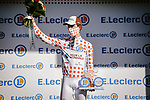 Benoit Cosnefroy (FRA) AG2R La Mondial retains the mountains Polka Dot Jersey at the end of Stage 6 of Tour de France 2020, running 191km from Le Teil to Mont Aigoual, France. 3rd September 2020.<br /> Picture: ASO/Pauline Ballet   Cyclefile<br /> All photos usage must carry mandatory copyright credit (© Cyclefile   ASO/Pauline Ballet)