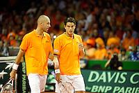22-9-07, Netherlands, Rotterdam, Daviscup NL-Portugal, Dubbels, Peter Wessels en Jesse Huta Galung(r)