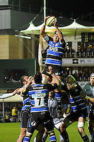 Ben Skirving of Bath Rugby wins the lineout during the LV= Cup semi final match between Bath Rugby and Leicester Tigers at The Recreation Ground, Bath (Photo by Rob Munro, Fotosports International)