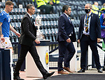 St Johnstone v Hibs…22.05.21  Scottish Cup Final Hampden Park<br />Managers Callum Davidson and Jack Ross lead the teams out<br />Picture by Graeme Hart.<br />Copyright Perthshire Picture Agency<br />Tel: 01738 623350  Mobile: 07990 594431